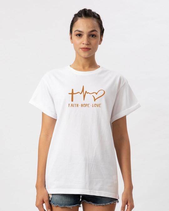 Shop Faith.love.hope Boyfriend T-Shirt-Front