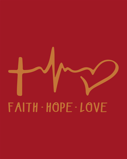 Shop Faith.love.hope Round Neck 3/4th Sleeve T-Shirt