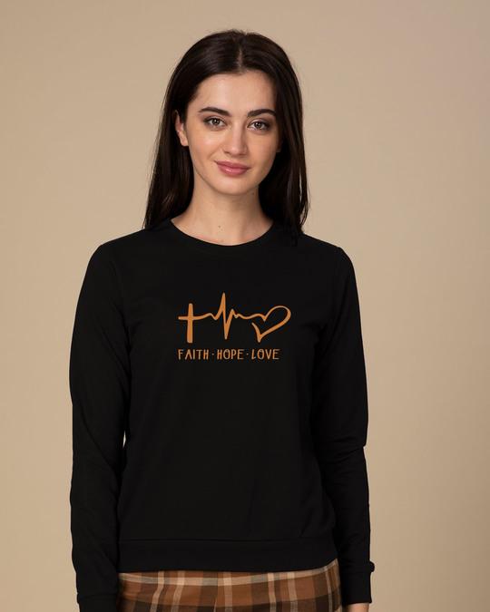Shop Faith.love.hope Light Sweatshirt-Front