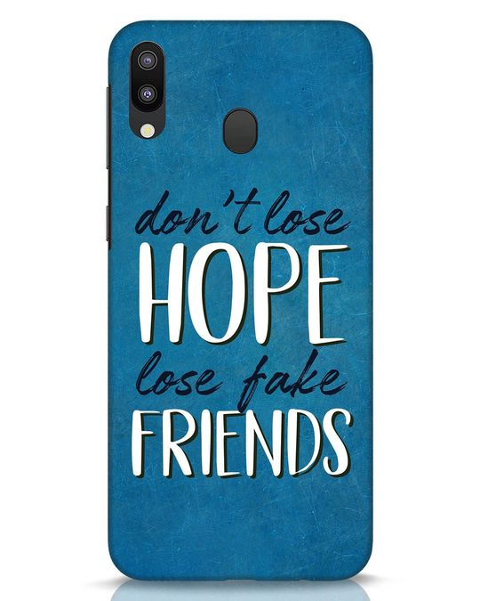 Shop Fake Friends Samsung Galaxy M20 Mobile Cover-Front