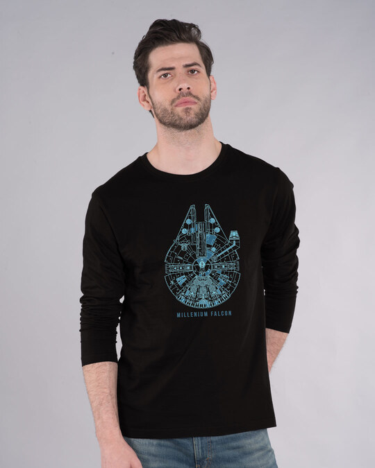 Shop Falcon Neon Millenium Full Sleeve T-Shirt (SWL)-Front