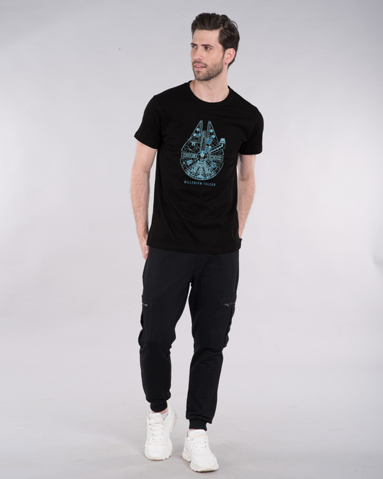 Shop Falcon Neon Millenium Half Sleeve T-Shirt (SWL)-Design