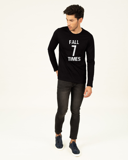 Shop Fall 7 Times Stand Up 8 Full Sleeve T-Shirt