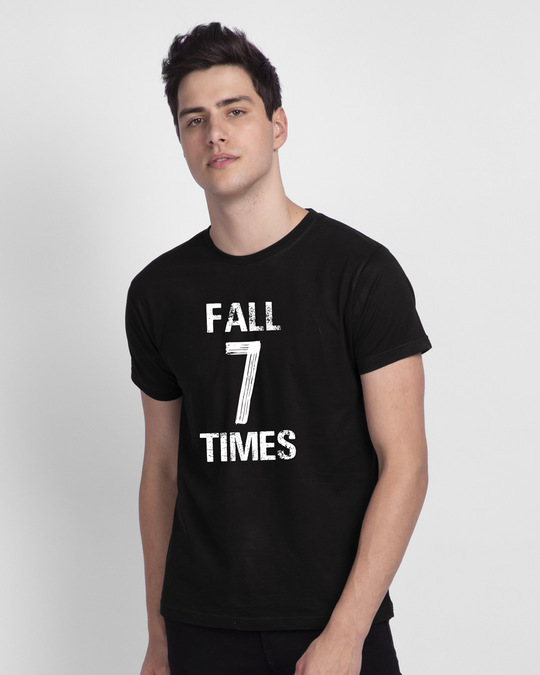 Shop Fall 7 Times Stand Up 8 Half Sleeve T-Shirt-Back