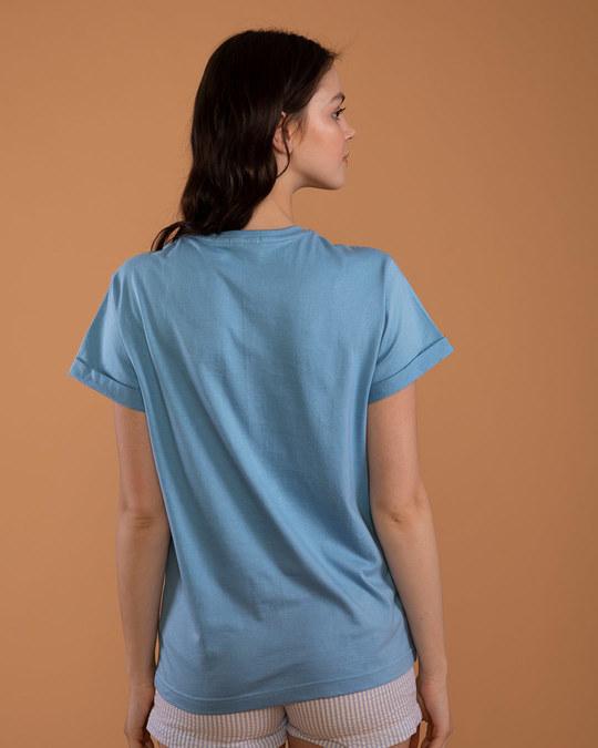 Shop Falling Pooh Boyfriend T-Shirt (DL)-Back