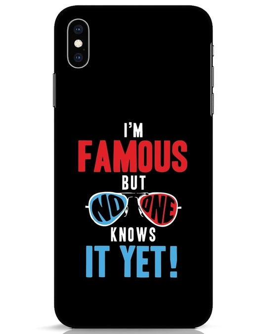 Shop Famous iPhone XS Max Mobile Cover-Front