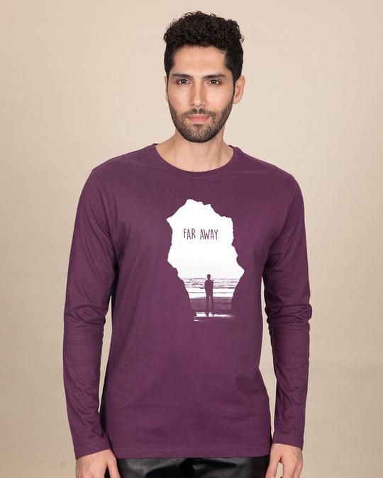 Shop Far Away Travel Full Sleeve T-Shirt-Front