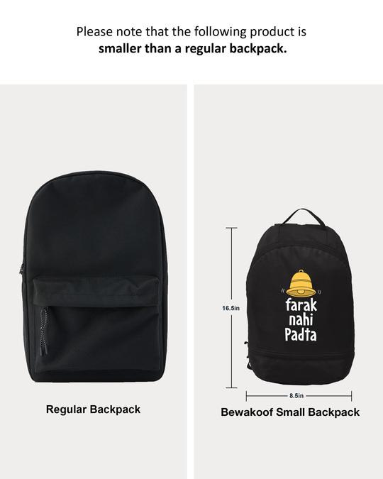 Shop Farak Nahi Padta Printed Small Backpacks-Back