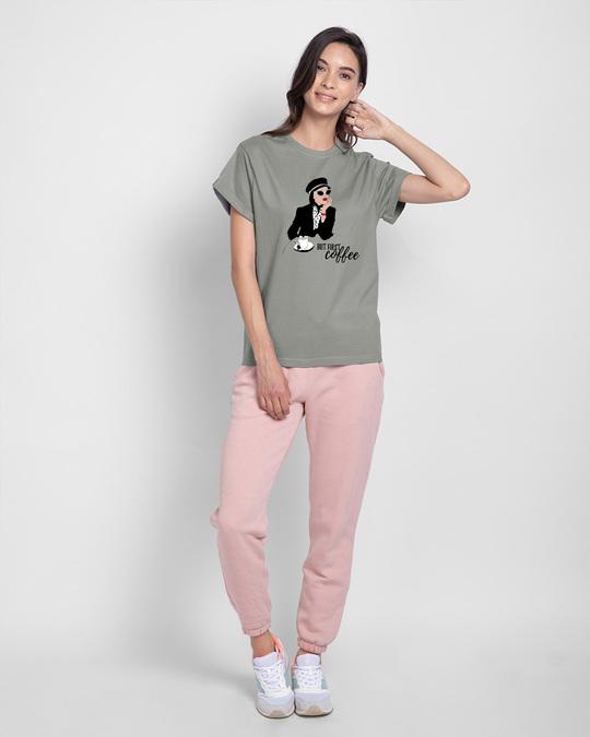 Shop Fashion Coffee Boyfriend T-Shirts Meteor Grey-Design