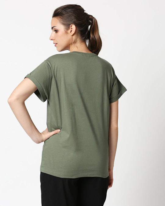 Shop Fast And Fierce Boyfriend T-Shirt Alpha Green-Full