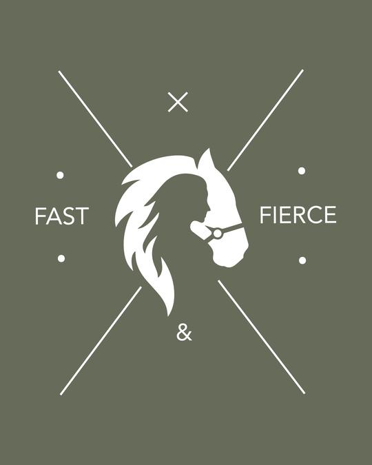 Shop Fast And Fierce Boyfriend T-Shirt Alpha Green