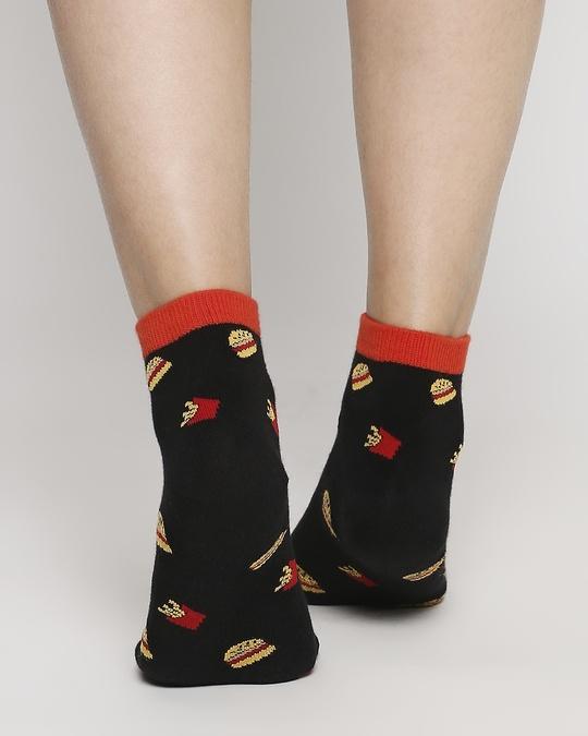 Shop Fast Food Delight Ankle Length Socks-Back