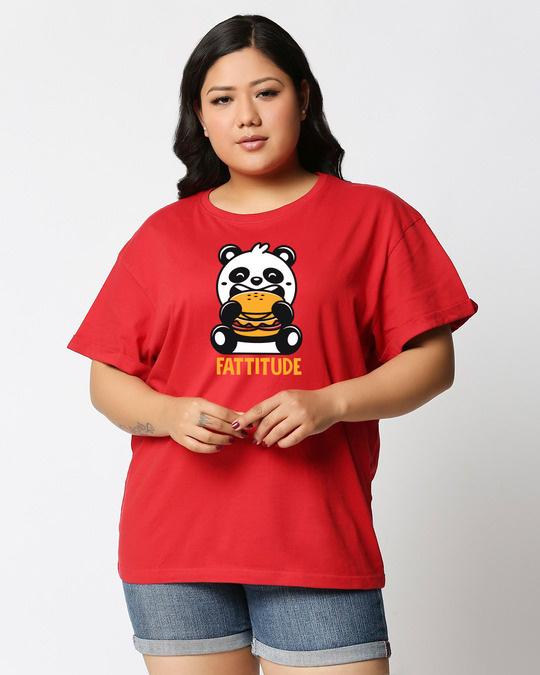 Shop Fatitude Boyfriend Plus Size T-Shirt-Front
