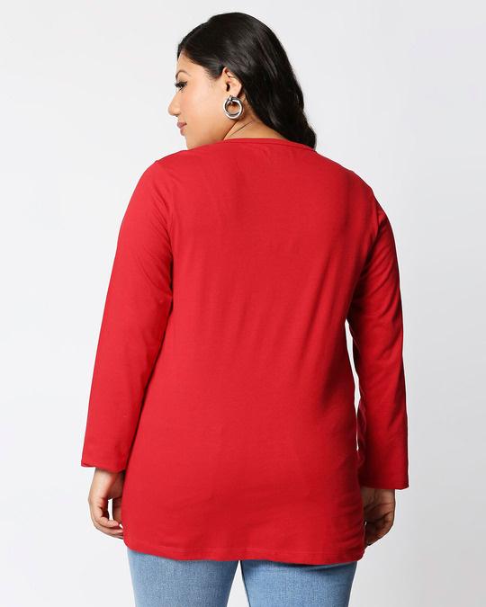 Shop Fatitude Full Sleeve Plus Size T-Shirt-Design