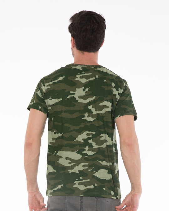 Shop Fauna Green Camouflage Half Sleeve T-Shirt-Full