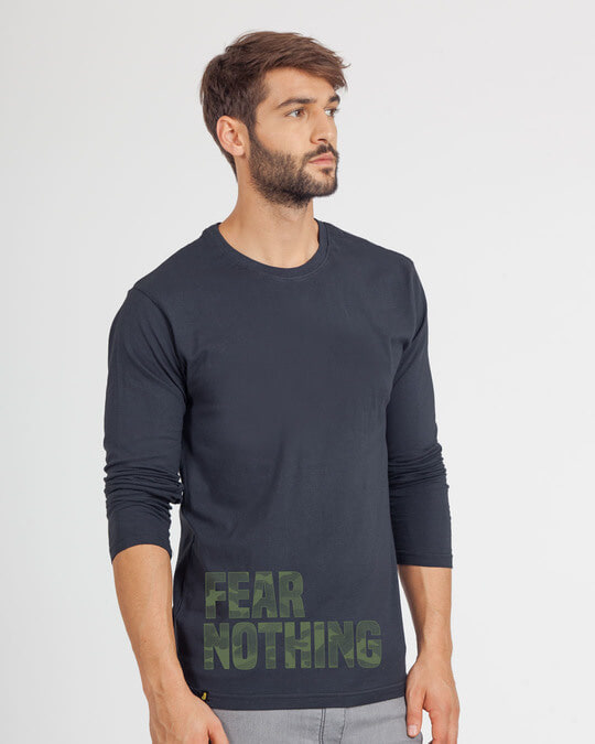 Shop Fear Nothing Camo Full Sleeve T-Shirt-Back