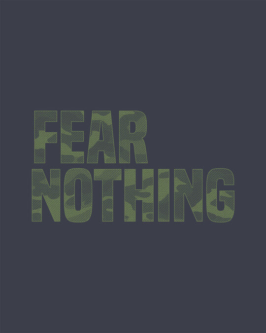 Shop Fear Nothing Camo Full Sleeve T-Shirt