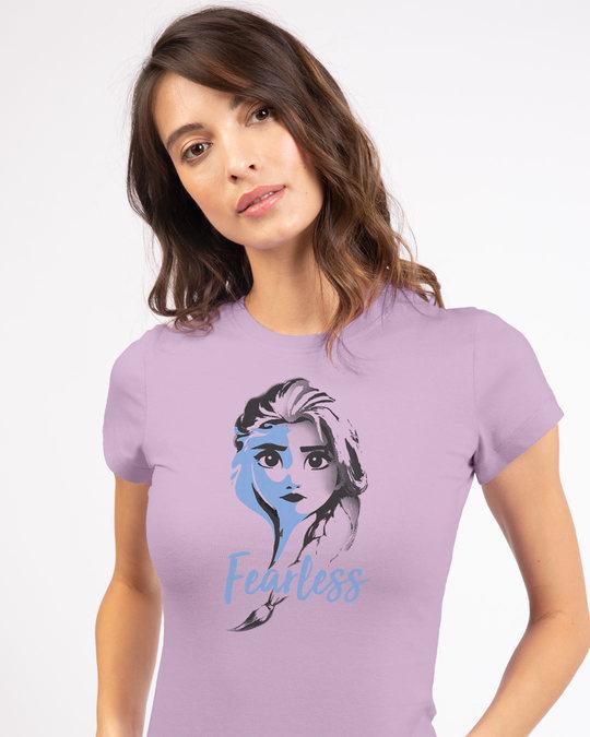 Shop Fearless Elsa (Frozen) Half Sleeve T-Shirt (DL)-Front