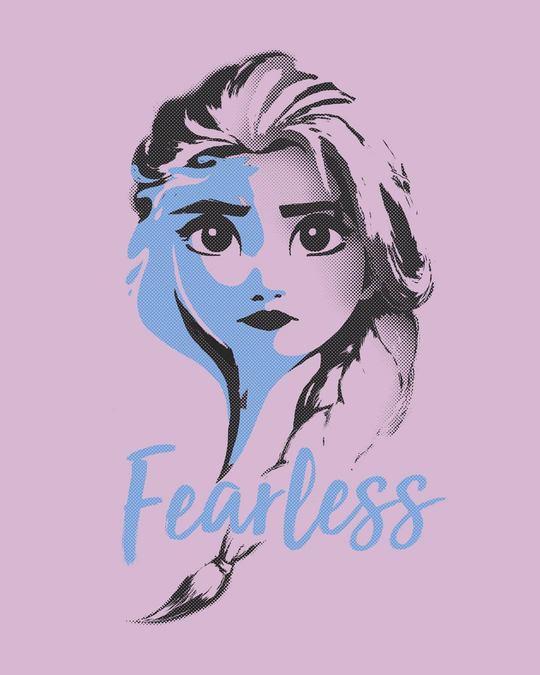 Shop Fearless Elsa (Frozen) Half Sleeve T-Shirt (DL)-Full