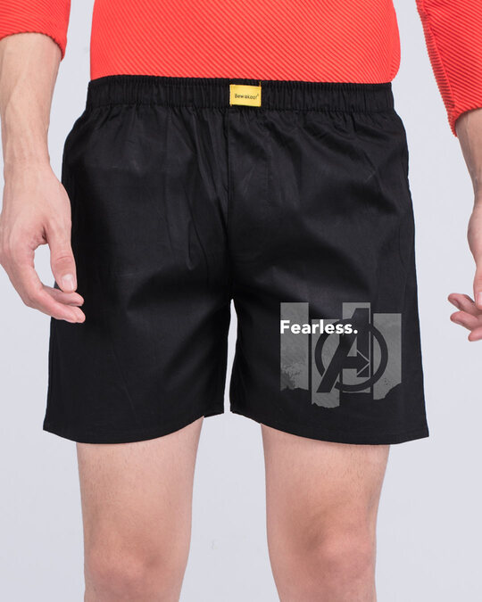 Shop Fearless Heroes Side Printed Boxer-Front