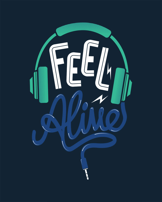 Shop Feel Alive Half Sleeve T-Shirt