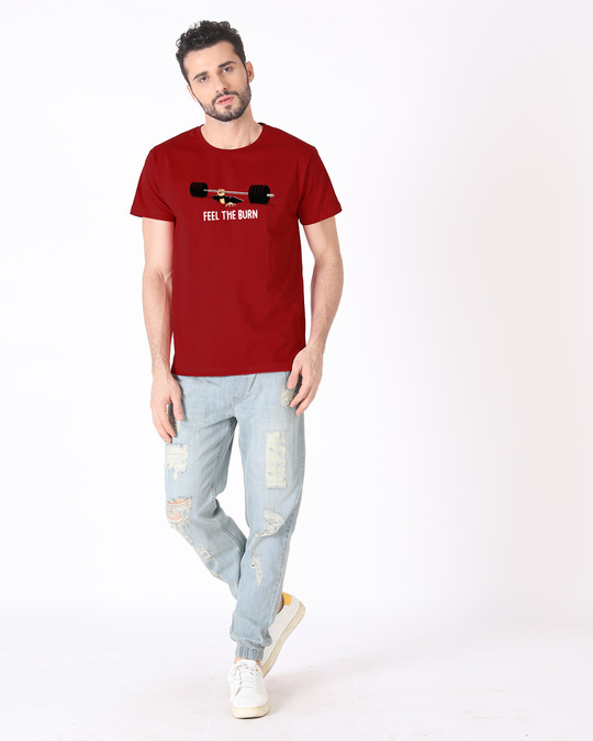 Shop Feel The Burn Half Sleeve T-Shirt