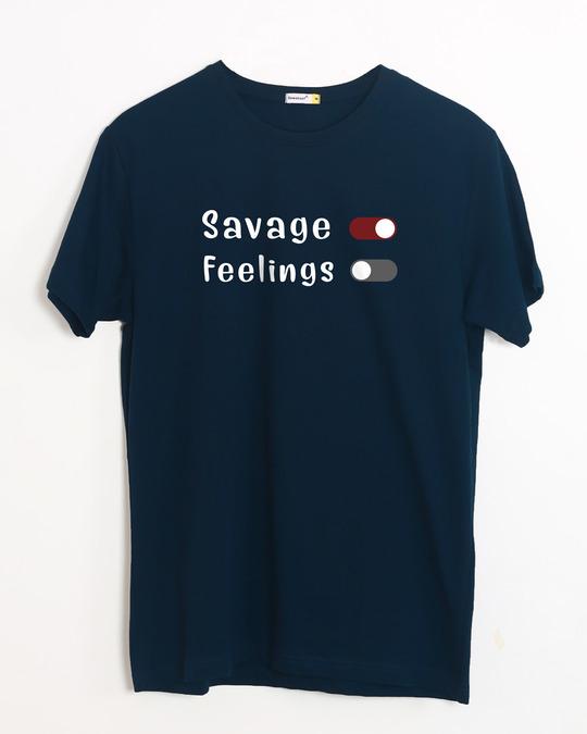 Shop Feelings Off Half Sleeve T-Shirt-Front