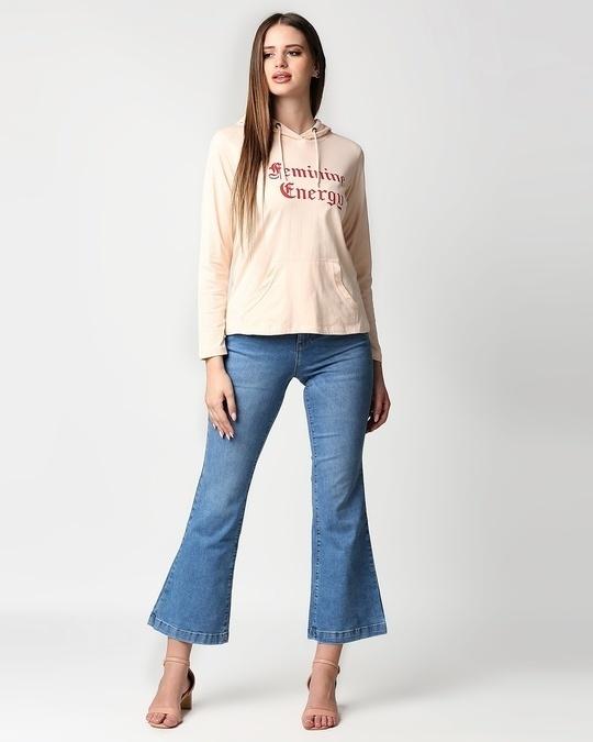Shop Feminine Energy Full Sleeve Hoodie T-Shirt