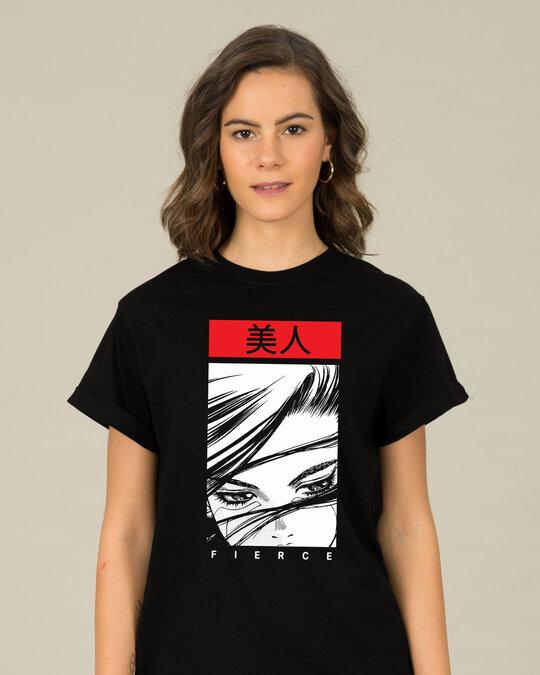 Shop Fierce & Beautiful Boyfriend T-Shirt-Front