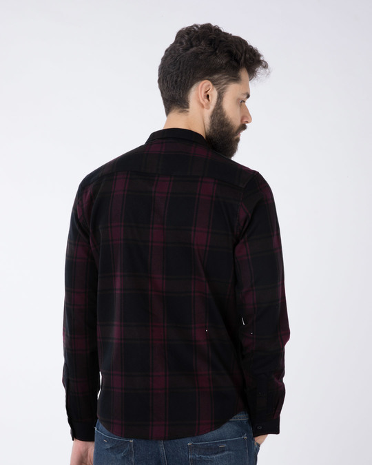 Shop Fig Purple Checked Full Sleeve Shirt-Design