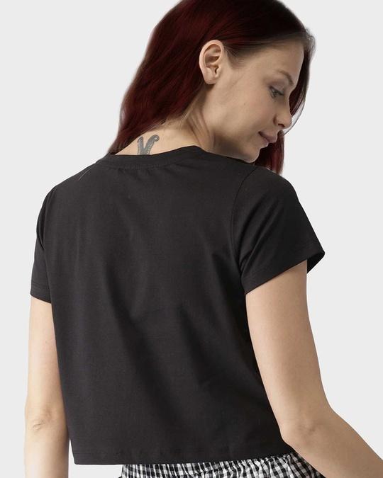 Shop Aise Kaise Chalega Black Crop Top-Back