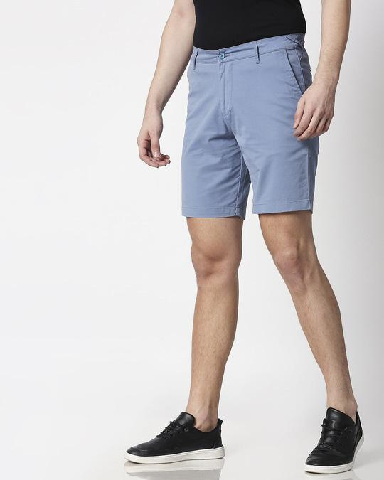 Shop Colorado Blue Men's Chinos Shorts-Back