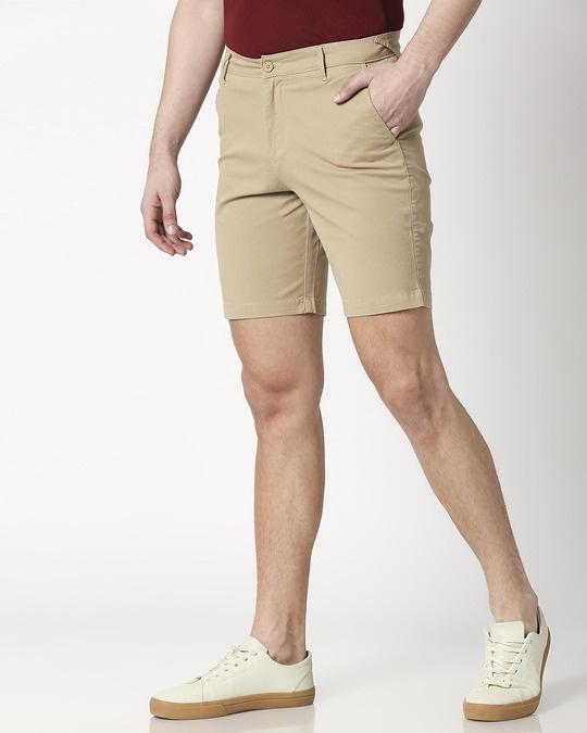 Shop Khakhi Men's Chinos Shorts-Design
