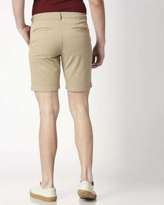 Shop Khakhi Men's Chinos Shorts-Full