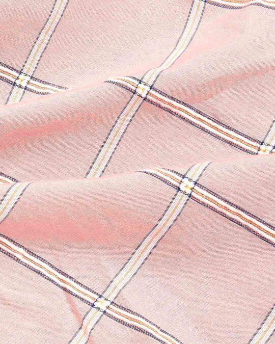 Shop Men's Pink Slim Fit Casual Check Shirt