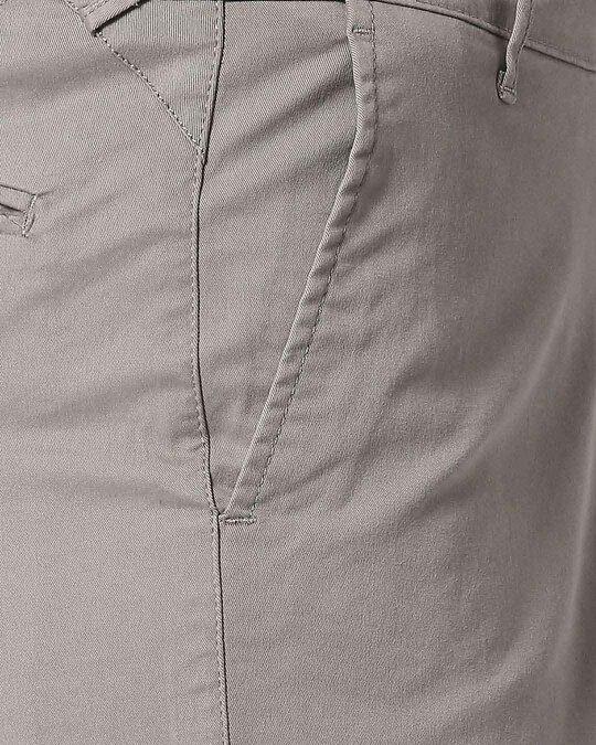 Shop Stone Grey Men's Chinos Shorts