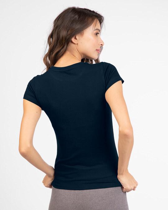 Shop Find Your Balance Half Sleeve Printed T-Shirts Navy Blue-Back