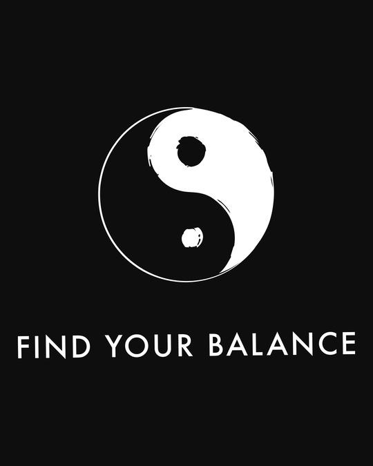 Shop Find Your Balance  Round Neck 3/4 Sleeve T-Shirts Black