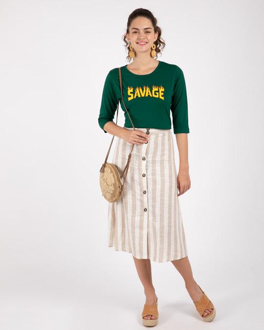 Shop Fire Savage 3/4th Sleeve T-Shirt-Design