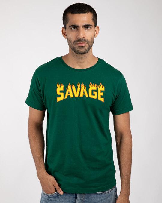 Shop Fire Savage Half Sleeve T-Shirt-Front
