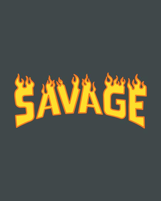 Shop Fire Savage Half Sleeve T-Shirt-Full