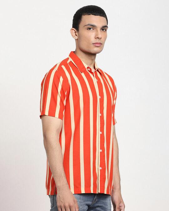 Shop Fire Whirl Dot And Stripe AOP Half Sleeve Shirt-Design