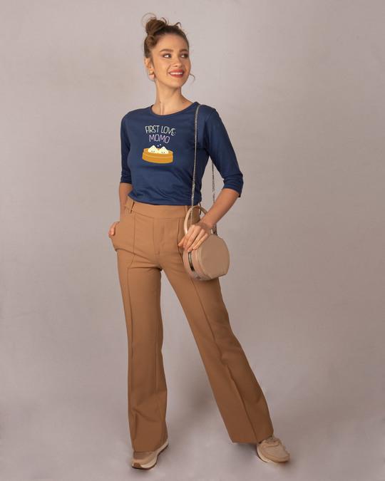Shop First Love- Momo Round Neck 3/4th Sleeve T-Shirt-Design