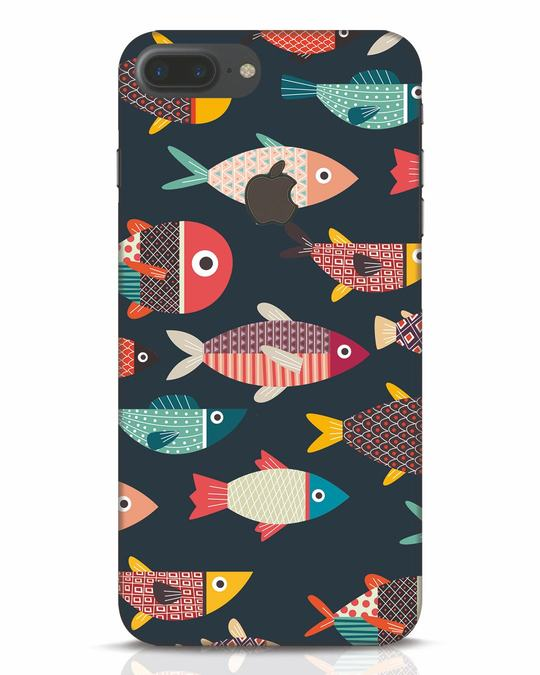Shop Fishies iPhone 7 Plus Logo Cut Mobile Cover-Front