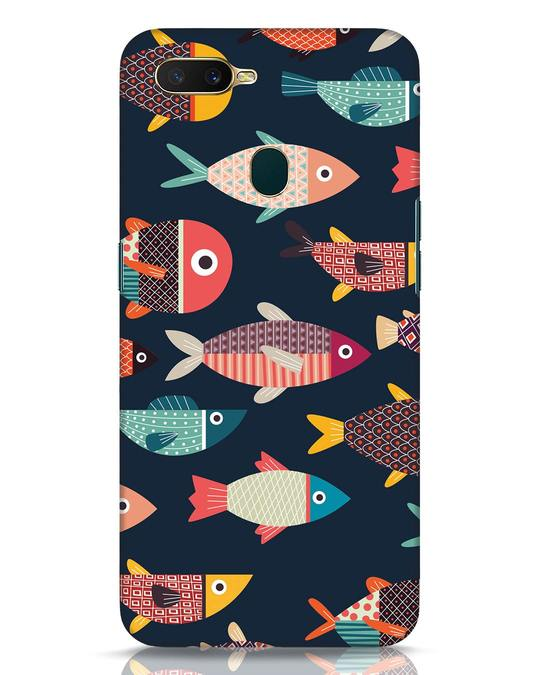 Shop Fishies Oppo A7 Mobile Cover-Front