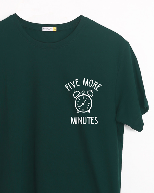 Shop Five Minutes Snooze Half Sleeve T-Shirt-Front