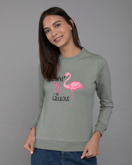 Shop Flamingo Fabulous Fleece Light Sweatshirt-Front