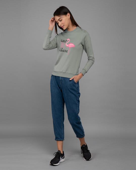 Shop Flamingo Fabulous Fleece Light Sweatshirt-Design