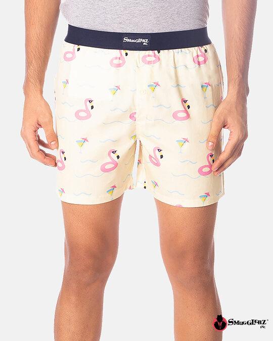Shop Smugglerz Flamingo Float Boxer Pink-Front