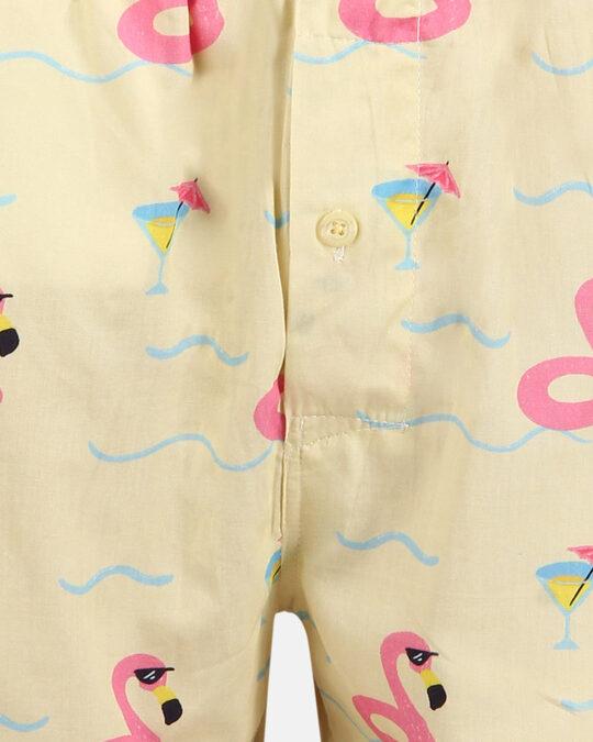 Shop Smugglerz Flamingo Float Boxer Pink